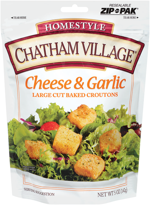 LargeCutCheeseGarlic - Chatham Village Large Cut Cheese & Garlic Croutons