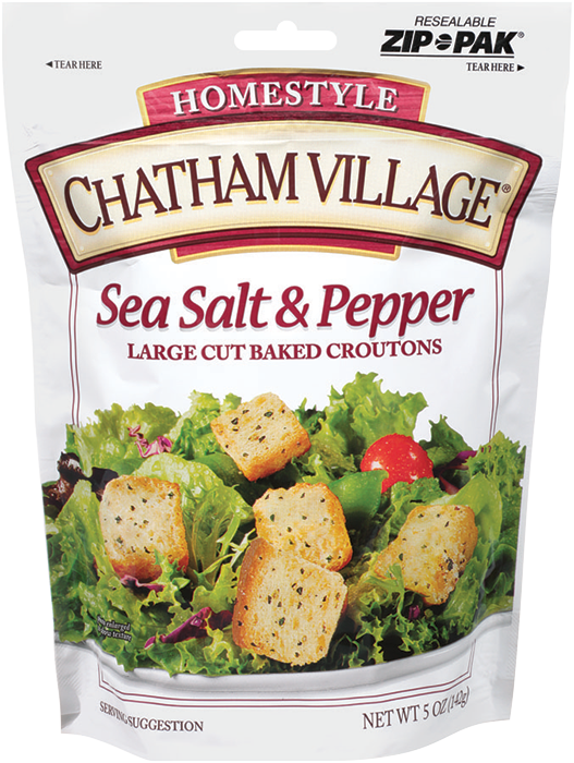 LargeCutSeaSaltPepper - Chatham Village Sea Salt & Pepper Croutons